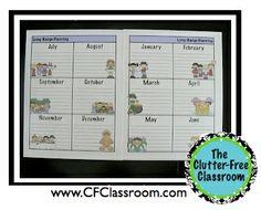 Clutter-Free Classroom: Creating Your Own Teacher Organization Binder {Lesson Plan, Grade Book, Attendance, Calendars, Birthday and More}