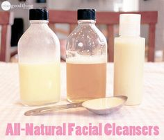 4 Different Facial Cleansers - great for any skin type!