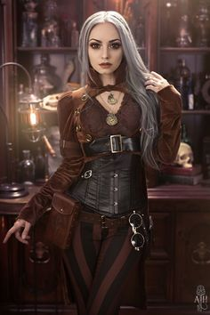 Necklaces: Alchemy Gothic Leather pouch: ArcaneArmoury Coat: Draculaclothing Pants: Kato's SteampunkCouture Sunglasses: Victorian Time Machine Photo/model: Alternate History Designs & Photography Welcome to Gothic and Amazing |...