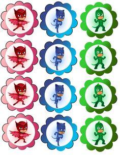 pj-masks-cupcake-scalloppj-masks-invitations-girlpj-masks-invitations PJ Masks Cupcakes PJ Masks Banner PJ masks Water bottle pj-masks-birthday-banner Source by amandajosten Pj Mask Party Decorations, Birthday Decorations, Party Themes, Ideas Party, Pj Masks Cupcake Toppers, Pj Mask Cupcakes, 4th Birthday Parties, 3rd Birthday, Birthday Banners