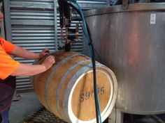 Wine barrel cleaning with siphon rod attached to Steam Pressure Barrel, Events, Cleaning, Wine, Barrel Roll, Barrels, Home Cleaning