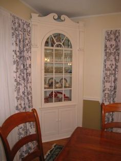 Beau Built In Corner China Cabinet In White   Sweet Built In China Cabinet