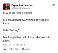 Teaching her how to ride a bike