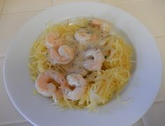 Eggface Weight Loss Surgery Friendly Low Carb Pasta Alternatives: Spaghetti Squash and Shrimp Scampi #weightlossrecipes
