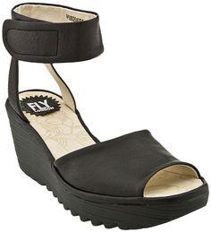 Fly London Yula Ankle Strap Wedge Sandal