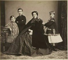 Sarah Stevenson Harrison and her children 1857.