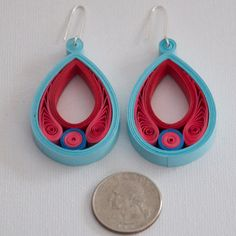 Quilled Paper Scroll Earrings by littlecircles. These could be made to look like golden snitches! HP!