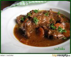 Hovězí nudličky na černém pivu a domácím kečupu No Salt Recipes, Cooking Recipes, Russian Recipes, Stew, Food And Drink, Health, Foods, Polish, Sweets