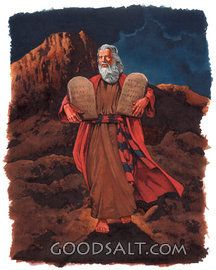 Moisés en el Sinaí Mout