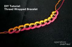 Tutorial : Thread Wrapped Bracelet