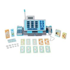 Toy Cash Registers - Just Like Home Talking Cash Register  Blue >>> Be sure to check out this awesome product.
