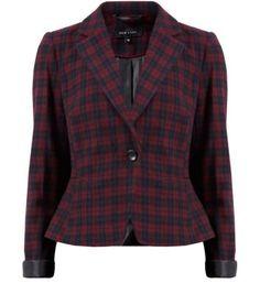 Red Pattern Tartan Short Blazer New Look Blazer And Shorts, Checked Blazer, Work Jackets, Professional Women, Chic Dress, Teen Fashion, New Look, Work Wear, Fashion Online