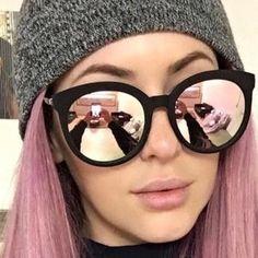 Fashion Sunglasses Women Popular Brand Design Retro Reflective Mirror Sunglass Square Sun Glasses For Women oculos de sol - Sunglasses - Brillen Luxury Sunglasses, Retro Sunglasses, Cat Eye Sunglasses, Mirrored Sunglasses, Sunglasses Women, Reflective Sunglasses, Oversized Sunglasses, Square Sunglasses Mens, Black Mirror