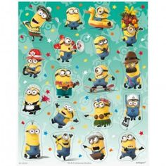 Despicable Me Party Supplies, Despicable Me Stickers, Party Favors
