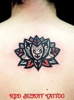 would love to do this to my Lotus tattoo tho lines not as thick and a color other than red, maybe a hot or bright pink