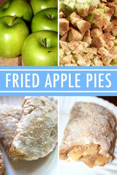 Fried Apple Pies Recipe collage