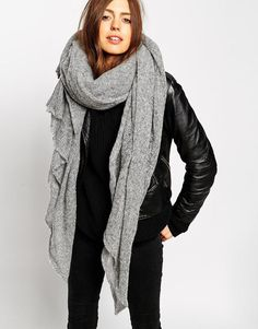 ASOS COLLECTION ASOS Oversized Knit Scarf