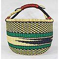 Ghana tribal basket; so pretty!