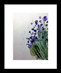 Purple Flowers 1 Framed Print by Britta Zehm. All framed prints are professionally printed, framed, assembled, and shipped within 3 - 4 business days and delivered ready-to-hang on your wall. Choose from multiple print sizes and hundreds of frame and mat options.