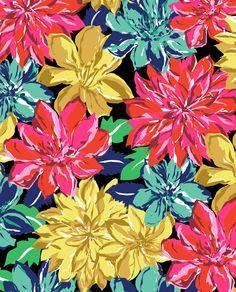 Wood Block Florals by Marisa Hopkins | marisahopkins.com