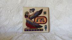 "Masterworks Egyptian Series Tile Winged Isis 6"" X 6"""