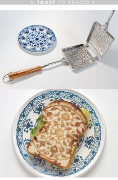 Ah, preeety toast! I probably wouldn't want to ruin it by eating it.. Or compulsively nibble around the pattern!
