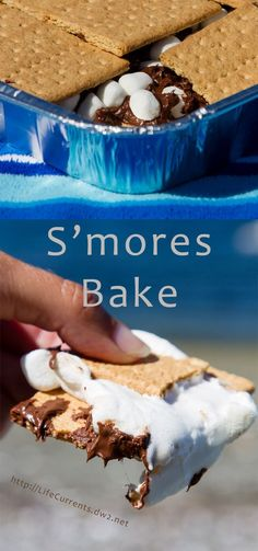 S'mores Bake - on the grill or in the oven - If you haven't had enough of summer, you can still make some awesome S'mores and feel like it's still summer! Summer Desserts, Easy Desserts, Delicious Desserts, Yummy Food, Tasty, Best Chocolate, Chocolate Desserts, Best Dessert Recipes, Fall Recipes