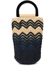 M Missoni woven style colour block bucket bag - Brown Window Display Retail, Retail Displays, Shop Displays, Window Displays, Colour Block, Color Blocking, Retail Store Design, Retail Stores, Visual Merchandising Displays