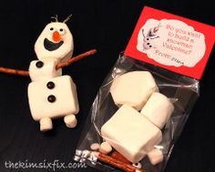 """The Kim Six Fix: """"Do You Want to Build A Snowman?"""" Frozen's Olaf Valentine"""