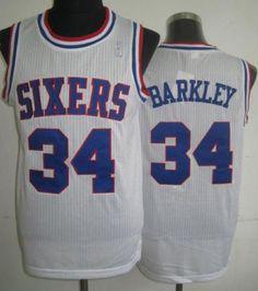 419f109c47f ... Philadelphia 76ers 34 Charles Barkley White Hardwood Classics  Revolution 30 NBA Jerseys Mens Adidas ...