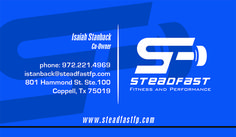 Steadfast Business Card created by Marni G Designs #MarniGDesigns #BusinessCard #BC #Steadfast