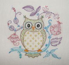 Embroidered Owl Pillow - Buscar con Google
