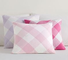 Gingham Canvas Sham