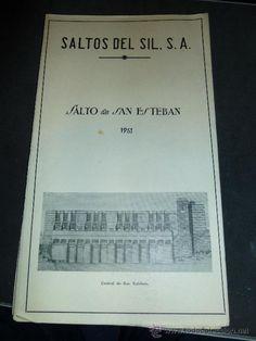 SALTOS DEL SIL. S. A. DESPLEGABLE DEL SALTO DE SAN ESTEBAN, AÑO DE 1951 - Foto 1