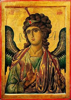 Archangel Gabriel on a Russian icon