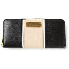Marc By Marc Jacobs Logo Zip Around Wallet ($177) ❤ liked on Polyvore featuring bags, wallets, black, marc by marc jacobs, black wallet, logo bags, marc by marc jacobs bags and black bag