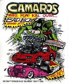 Camaros Sticker Decal Ed Roth Rat Fink Rat Fink, Chevy Camaro, Weird Cars, Cool Cars, Ed Roth Art, Cartoon Rat, Monster Car, Cars Coloring Pages, Car Drawings