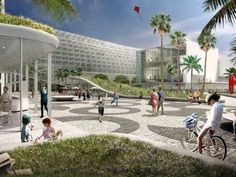 Miami Beach Square | BIG together with West 8, Fentress, JPA and developers Portman CMC proposes Miami Beach Square as the centerpiece of their 52 acre Convention Center | Architect Magazine