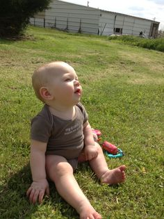 Baby stares at the sky. By Destiny Richards. Baby model - Kaygan