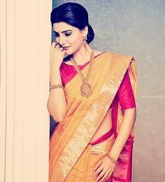 Samantha Hot Navel in Saree Photos