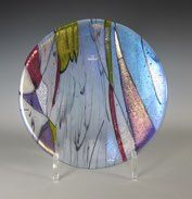 """Delirious Ditty<br />Neo-Lavender Irid Base<br />7.5"""" Ball bowl<br />"""