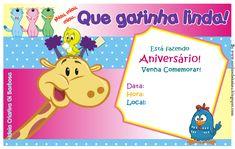 Convites da Galinha Pintadinha para Imprimir e Editar - Toda Atual