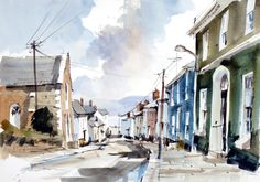 John Hoar | Architecture Watercolor Landscape Paintings, Watercolor Artists, Pen And Wash, Painting Courses, Watercolor Tutorials, Urban Sketching, Cityscapes, House Painting, Painting Inspiration