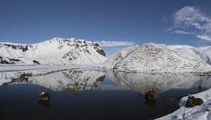 Mountains near Vik. - Snow capped mountains with reflection near Vik. Iceland, Mountains, Nature, Reflection, Travel, Snow, Ice Land, Naturaleza, Viajes