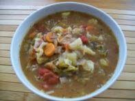 Schatz was koch ich heute? Vegane rote Krautsuppe.  Laß es Dir schmecken!  #vegan #suppe #rezepte