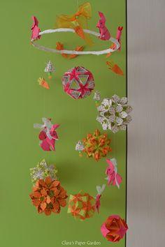 Clara's Paper Garden: Easter bunnies Origami Mobile, Kirigami, Easter Bunny, Quilling, Advent, Mandala, Paper, Bunnies, Garden