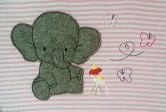 Stickmuster - Elefant Doodle Stickdatei - ein Designerstück von feinliebshop bei DaWanda