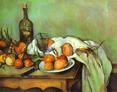 paul cezanne still life with onions painting