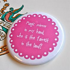 'magic mirror' fairytale compact mirror by woodpaperscissors   notonthehighstreet.com