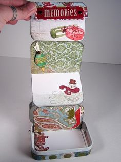 Altoids box by Jessikat; use this idea to make a mini book
